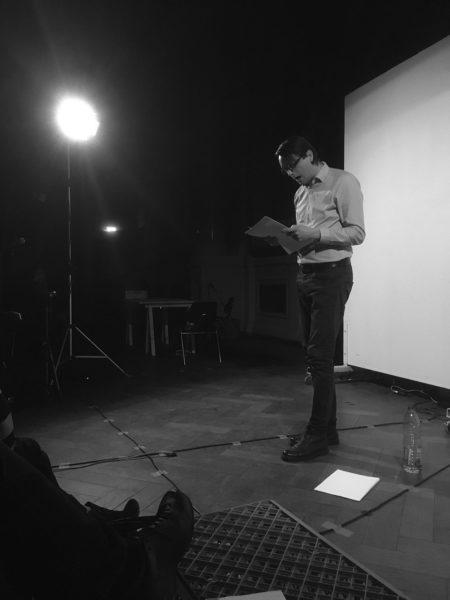 Foto Performance Michael Barthel: »Sprechkonzert«